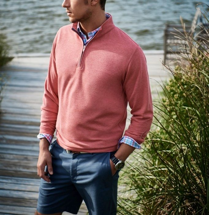 b57fb4735144 Sweaters 101: How to wear v-necks and quarter-zips - The MetThe Met